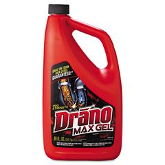Drano Max Gel Clog Remover, 2.5qt Bottle, 6/Carton