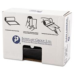 Inteplast Group High-Density Can Liner, 40 x 46, 45gal, 22mic, Black, 25/Roll, 6 Rolls/Carton