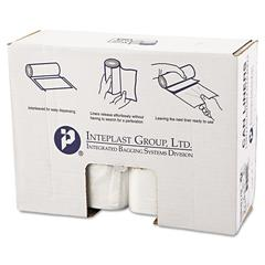 Inteplast Group High-Density Can Liner, 38 x 60, 60gal, 17mic, Clear, 25/Roll, 8 Rolls/Carton