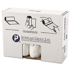 Inteplast Group High-Density Can Liner, 38 x 60, 60gal, 14mic, Clear, 25/Roll, 8 Rolls/Carton