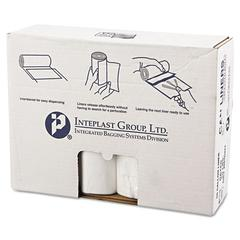 High-Density Can Liner, 38 x 58, 60gal, 12mic, Clear, 25/Roll, 8 Rolls/Carton