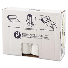 Inteplast Group High-Density Can Liner, 43 x 48, 60gal, 17mic, Clear, 25/Roll, 8 Rolls/Carton