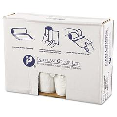 High-Density Can Liner, 40 x 46, 45gal, 11mic, Clear, 25/Roll, 10 Rolls/Carton