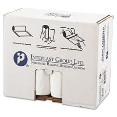 Inteplast Group Low-Density Can Liner, 30 x 36, 30gal, .7mil, White, 25/Roll, 8 Rolls/Carton