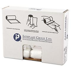 Inteplast Group High-Density Can Liner, 24 x 24, 10gal, 8mic, Clear, 50/Roll, 20 Rolls/Carton