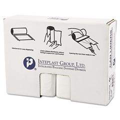 High-Density Can Liner, 33 x 40, 33gal, 17mic, Clear, 25/Roll, 10 Rolls/Carton