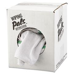 Counter Cloth/Bar Mop, White, Cotton, 12/Bag, 5 Bags/Carton