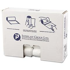 Inteplast Group High-Density Can Liner, 30 x 37, 30gal, 13mic, Clear, 25/Roll, 20 Rolls/Carton