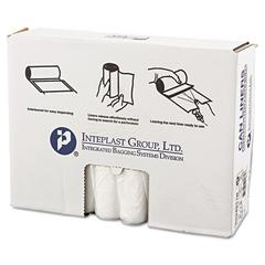 Inteplast Group High-Density Can Liner, 33 x 40, 33gal, 11mic, Clear, 25/Roll, 20 Rolls/Carton