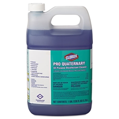 Clorox Pro Quaternary All-Purpose Disinfectant Cleaner, 128 oz Bottle, 2/Carton