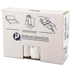 Inteplast Group High-Density Can Liner, 40 x 48, 45gal, 16mic, Clear, 25/Roll, 10 Rolls/Carton
