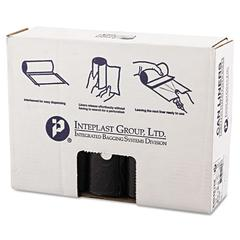 Inteplast Group High-Density Can Liner, 40 x 48, 45gal, 16mic, Black, 25/Roll, 10 Rolls/Carton