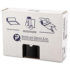 High-Density Can Liner, 40 x 48, 45gal, 16mic, Black, 25/Roll, 10 Rolls/Carton