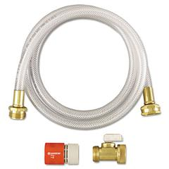 RTD Water Hook-Up Kit, Switch, On/Off, 3/8 dia x 5ft
