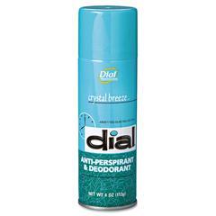 Scented Anti-Perspirant & Deodorant, Crystal Breeze, 4oz Aerosol, 24/Carton