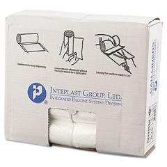 Inteplast Group High-Density Can Liner, 24 x 33, 16gal, 6mic, Clear, 50/Roll, 20 Rolls/Carton