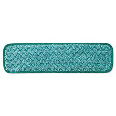 Rubbermaid Commercial Microfiber Dust Pad, 18 1/2 x 5 1/2, Green, 12/Carton