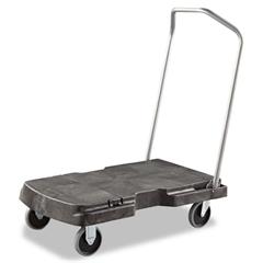 Rubbermaid Commercial Triple Trolley, 500-lb Cap, 20-1/2w x 32-1/2d x 7h, Black