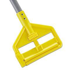 Invader Fiberglass Side-Gate Wet-Mop Handle, 1 dia x 54, Gray/Yellow