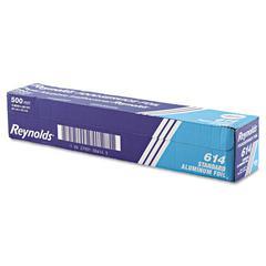 "Standard Aluminum Foil Roll, 18"" x 500 ft, Silver"