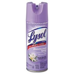 Disinfectant Spray, Early Morning Breeze, 12.5oz Aerosol, 12/Carton