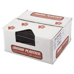 Jaguar Plastics Repro Low-Density Can Liners, 1.5 Mil, 43 x 47, Black, 100/Carton