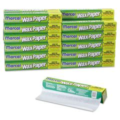 "Kitchen Charm Wax Paper Roll, 11 9/10"" x 75ft, White, 24/Carton"