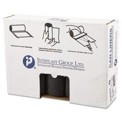 Inteplast Group Low-Density Can Liner, 33 x 39, 33gal, 1.4mil, Black, 25/Roll, 5 Rolls/Carton