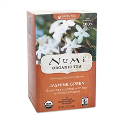 Numi Organic Teas and Teasans, 1.27oz, Jasmine Green, 18/Box