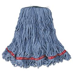 Web Foot Looped-End Wet Mop Head, Cotton/Synthetic, Medium Size, Blue, 6/Carton