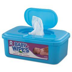 Royal Baby Wipes Tub, White, 80/Tub, 12/Carton