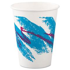 SOLO Cup Company Jazz Paper Hot Cups, 12oz, Polycoated, 50/Bag, 20 Bags/Carton