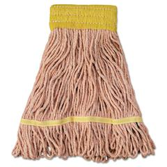 Mop Head, Super Loop Head, Cotton/Synthetic Fiber, Small, Orange, 12/Carton