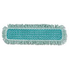 Rubbermaid Commercial HYGEN HYGEN Microfiber Fringed Dust Mop Pad, 24w x 9d, Green, 6/Carton