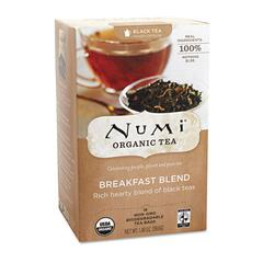 Numi Organic Teas and Teasans, 1.4oz, Breakfast Blend, 18/Box