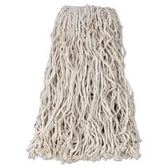 """Rubbermaid Commercial Economy Cut-End Cotton Wet Mop Head, 24oz, 1"""" Band, White, 12/Carton"""