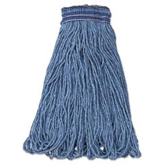 Rubbermaid Commercial Universal Headband Mop Head, Cotton/Synthetic, 24oz, Blue, 12/Carton