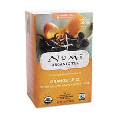 Organic Teas and Teasans, 1.58oz, White Orange Spice, 16/Box