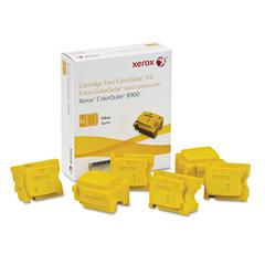 108R01016 High-Yield Ink Stick, 16900 Page-Yield, Yellow, 6/Box