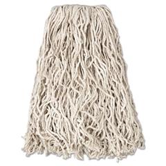 """Rubbermaid Commercial Economy Cut-End Cotton Wet Mop Head, 20oz, 1"""" Band, White, 12/Carton"""