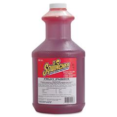 Sqwincher Liquid Concentrate Electrolyte Drink, Fruit Punch, 64oz Bottles, 6/Carton