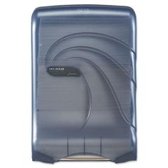 San Jamar Ultrafold Multifold/C-Fold Towel Dispenser, Oceans, Blue, 11 3/4 x 6 1/4 x 18