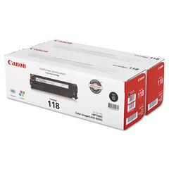 Canon 2662B004 (118) Toner, Black, 2/PK