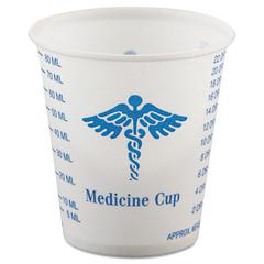 SOLO Cup Company Paper Medical & Dental Graduated Cups, 3oz, White/Blue, 100/Bag, 50 Bags/Carton
