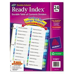 Avery Ready Index Customizable Table of Contents Double Column Dividers, 24-Tab, Ltr