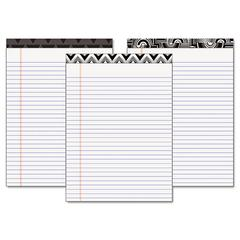 TOPS Fashion Legal Pads with Assorted Headtapes, 8 1/2 x 11, 50 Sheets, 6 Pads/Pack