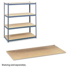 Particleboard Shelves for Steel Pack Archival Shelving, 69w x 33d x84w, Box of 4