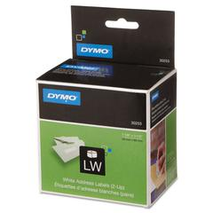 DYMO LabelWriter 2-UP Address Labels, 1 1/8 x 3 1/2, White, 700 Labels/Roll