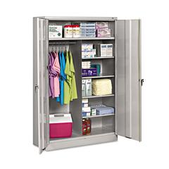 Jumbo Combination Steel Storage Cabinet, 48w x 24d x 78h, Light Gray