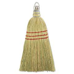 "Whisk Broom, Corn Fiber Bristles, 10"" Wood Handle, Yellow, 12/Carton"